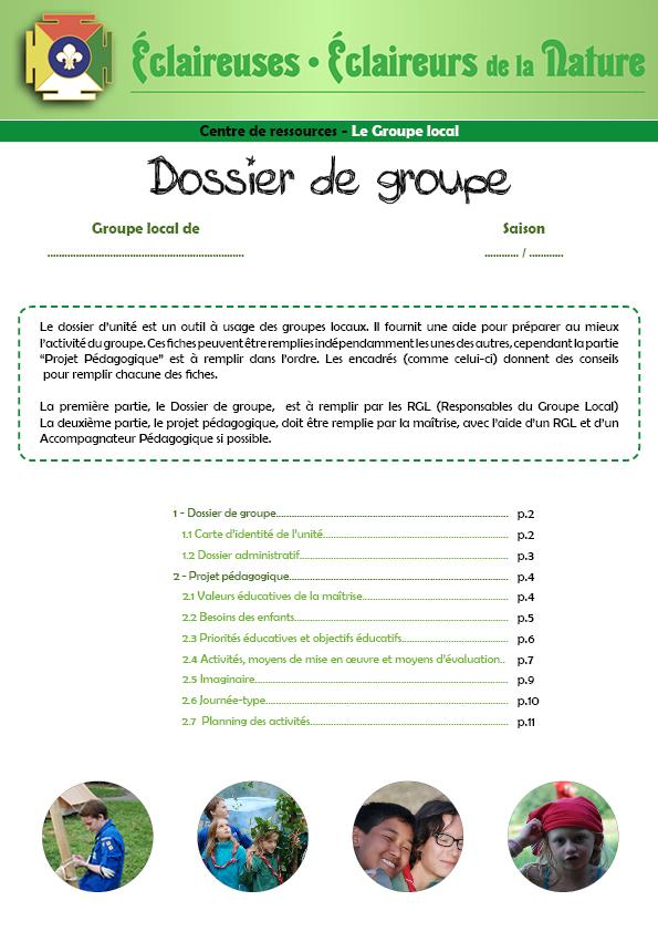 <b>Dossier de groupe</b>