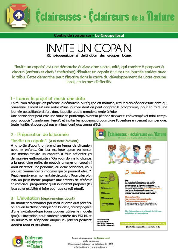 <b>Invite un copain - Kit pédagogique</b>