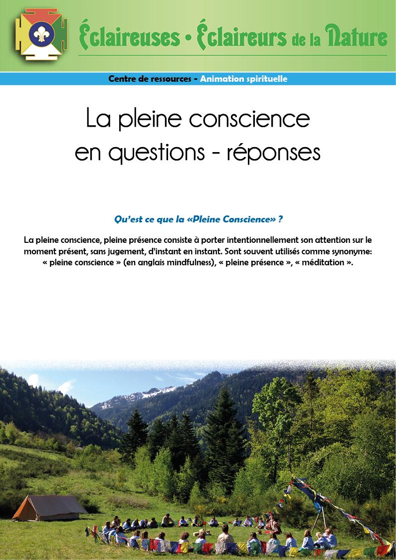 <b>La Pleine Conscience en questions - réponses</b>