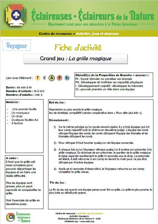 <b>Grille magique</b>