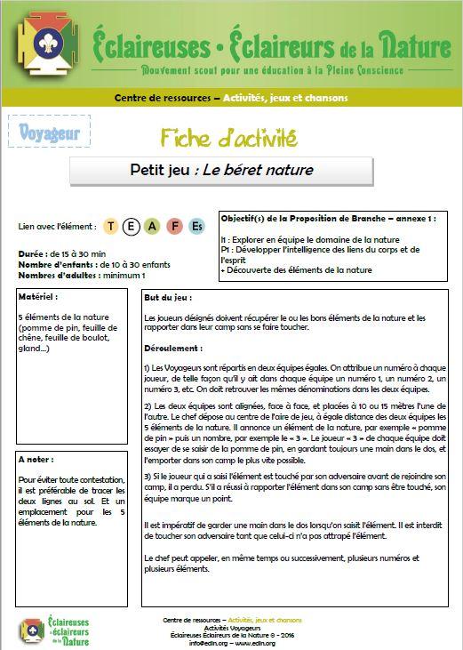 <b>Le béret nature</b>