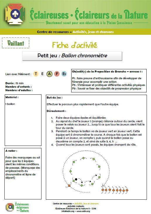 <b>Ballon chronomètre</b>