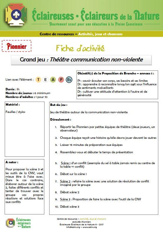 <b>Théâtre communication non-violente</b>