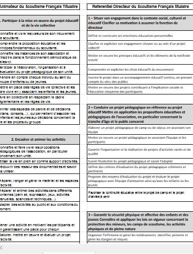 <b> Référentiels de compétences ASF/DSF </b>