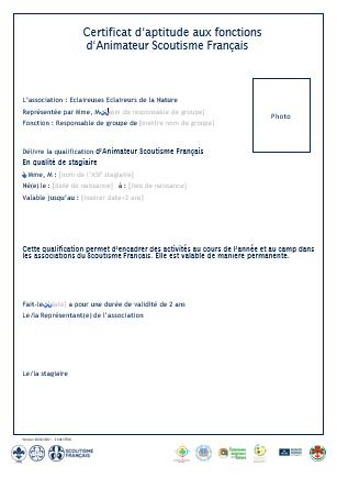 <b>Demande de qualification ASF stagiaire<b\>